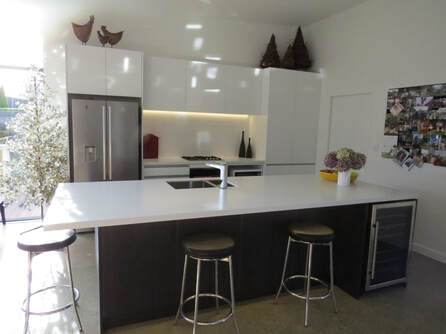 Nazareth Joinery white kitchen island